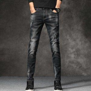 New Fashion Mens Jeans Men 6 Colors Stretch Denim Jeans For Men Slim Wash White Jean Pants Trousers Man Plus Size 28-38 X0621