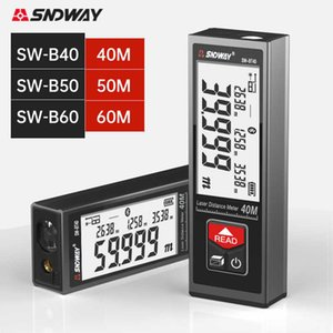 SNDWAY Laser Rangefinder Handheld Laser Distance Meter 40M 50M 60M Segment LCD Digital Display Electronic Laser Tape Measure 210719