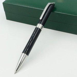 Moda Alta Calidad al por mayor Precio Negro y Silver R Ballpoint Pen Classique Office Fashion Fashion, Green Pen Box Opción Nuevo Nuevo