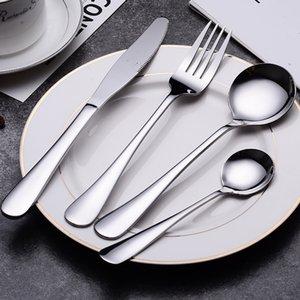 Stainless Steel Tableware Western Coffee Dessert Spoon Hotel Household Gift Customized Steak Knife Fork and Spoon Suit