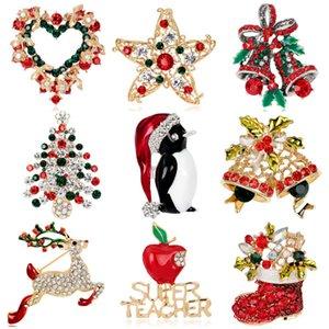 Düz Noel Broş Noel Ağacı Yaka Çizmeler Kardan Adam Kızak Çan Broş Noel Koleksiyonu