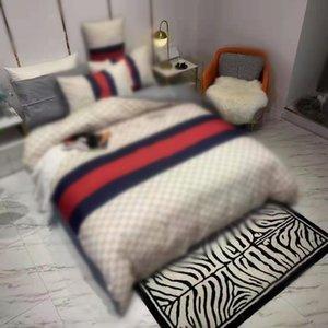 Дизайнер 4 шт. Постельные комплекты Хлопок Кровать Кинг Размер Европейский стиль стеганые крышки подушки Корпус кроватью одеяло одеяла чехлы