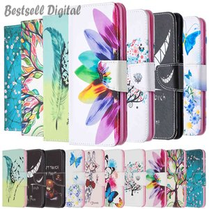 Fashion Painted Leather Flip Case For Redmi 9T Soft Phone Book Cover Wallet Coque Butterfly Flower For Redmi9T Stand Card Holder Fundas