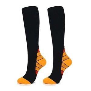 Chaussettes Unisexe Compression respirante genou SOS imprimé Polyester Nylon Hosiery Footwear Accessoires Femme
