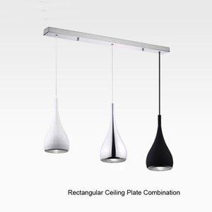 American Style Pingente Lâmpada Dia16cm * H120cm Cozinha Alumínio / Chrome 110-240V Três Cores Dinning Light Quart