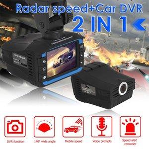 DVRS de voiture 2 en 1 Enregistreur de conduite Radara Vitesse + voiture DVR Voice Avertissement Avertissement Radar Radar Dash Cam