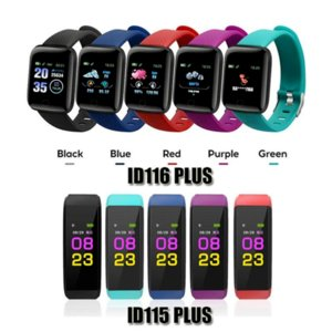 ID115 ID116 PLUS Smart Bracelet Watch Heart Rate Fitness Tracker ID115HR Waterproof Watchband Wristband For Android Cellphones Mi Band
