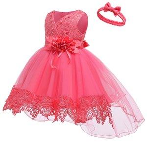 Vestidos de bautizo unicornio vestido de vestimenta infantil fiesta 1er año cumpleaños niños ropa