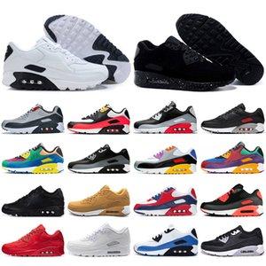 Max 90 Nuevos 2020 zoom Alfa Hombres Mujeres Zapatos volar junto% Negro verde eléctrico sandía blanca Bred tamaño tour Universidad Amarillo Rojo de punto para