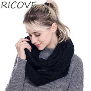 Knitted Ring Scarf Women Winter Scarves Soft Neck Circle Ladies Casual Warm Crochet Infinity Snood Autumn Bandanas