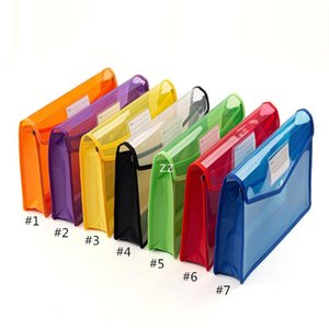 File Bag Desk Transparent Thickened Large-capacity Storage Bags Student Files Information Pocket Folders HWE9429