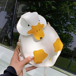 Cute Cartoon Duck Ladies Shoulder Bag Small Crossbody Bag for Women Messenger Bag Girls Purses and Handbags Pu Leather Pouch LJ210203