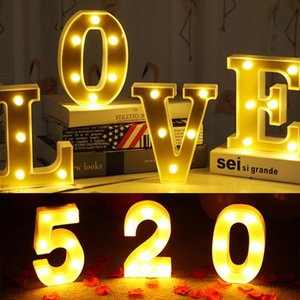 16cm A-Z Alphabet Letter Lights Marquee Sign Number LED Light Romantic Indoor Wall Night Lamp Decoration Valentine's Day Gift Novelty Items