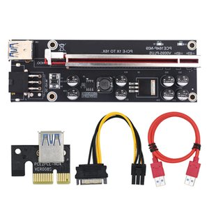 VER009S Plus PCI-E Riser Cards PCI Express 1Xto 16X USB 3.0 Cable SATA to 6Pin Connector for Graphics Card BTC Mining