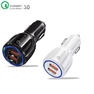 QC 3.0 Certified 3.1A Quick Charge Dual USB Port Fast Car Charger Charging Adapter for iPad Mobile Phone Tablet Pad Etc.