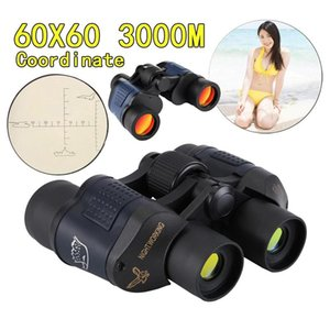 HD Professional 60x60 3000M Outdoor Waterproof Telescope High Power Definition Binoculos Night Vision Hunting Binoculars Monocular Telescopio the latest