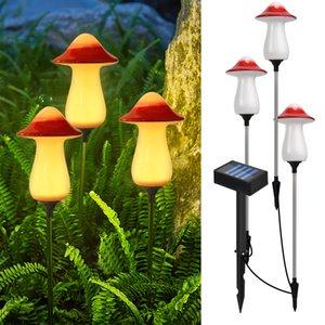 Decorative Lanterns Pathway Light- Solar Garden Lights 3 Pack Path Walkway Light Outdoor Waterproof For Garden, Patio, Yard Landscape And Driveway Warm Color Mushroom