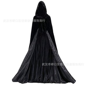 Halloween Costume Double Face Cape Witch Black Death Cloak Vampire Cosplay Masquerade