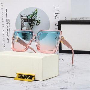 패션 남성 디자이너 선글라스 고품질 브랜드 편광 렌즈 여성 안경 금속 프레임 4 색 2039 상자