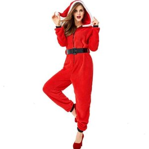 christmas family pajam Adults Kids Hooded Jumpsuit Women Velvet Pajamas Xmas Costume Fantasia Cosplay Party Clothes