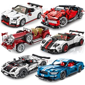 City Diy Classic Racing Convertible Car Model Building Blocks Technic Car Bricks Toys For Children Boy Christmas Gifts Q0123