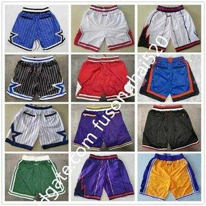 NEW All 30 Team Men Basketball Shorts Team Don Pocket Shorts Sport Shorts Pants Sweatpants Classic White Blue Red Purple Green