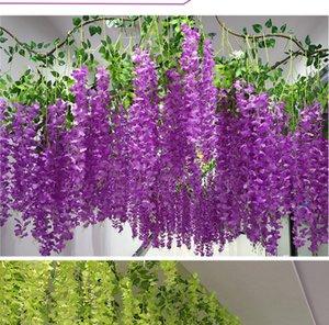 110cm Wisteria Wedding Decor 6 colors Artificial Decorative Flowers Garlands for Party Wedding Home