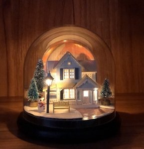 Nordic Fairy Tale DIY Glass Ball Kits Doll House Winter House Snow Wooden Handmade Kids Craft Miniature Home Assemble Toys Gift Y0329