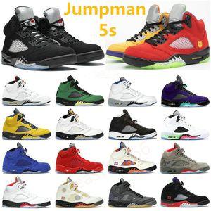2021 Top Jumpman 5S Basketball Chaussures 5 Raging Bull Mens V Fire Rouge Qu'est-ce que la mousseline noire Sail Paris SE Oregon Island Vert Hommes Baskets sportifs sportifs sportifs