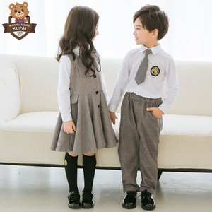 Childrens Clothing 2021 New Kindergarten Suit Autumn British College Style Suit Dress Primary School Uniform