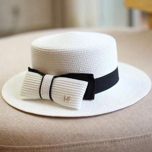 Elegant Bow straw Hats Holiday Beach Womens Wide Brim cap High Quality Sun Hat Tide 3 Colors Fisherman caps