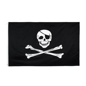 Creepy Ragged older jolly roger Skull Cross bones Pirate Flag Hotsale Freeshipping Direct Factory 100% Polyester 90*150cm 3x5fts GWF10442