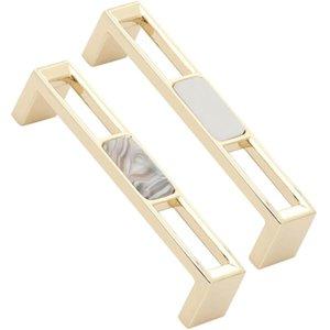 Handles & Pulls Multi-purpose American Style Zinc Alloy Cabinet Pull Shell Stone Handle Single Hole Furniture Knobs Wardrobe