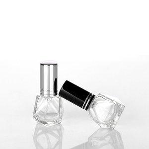 8 ملليلتر المحمولة مصغرة عطر الزجاج زجاجة سفر رذاذ البخاخة فارغة شفافة parfume البخاخ زجاجات مع غطاء ملون