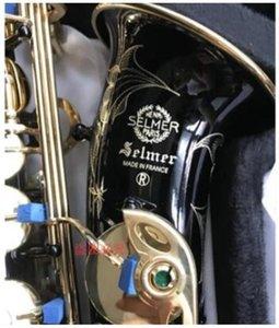 Mark VI Model Black Nickel Gold E Flat Alto Saxophone Eb Sax with Case Accessories