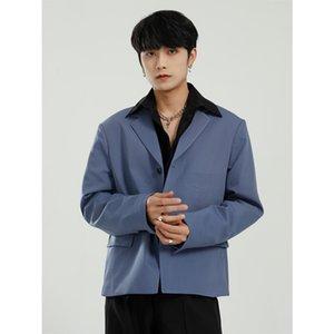 MTL - 2021 Весна Новый Товар Корейский Мода Простой Сплошной Цвет Одиночный Костюм Костюм Куртка Мужская Одежда