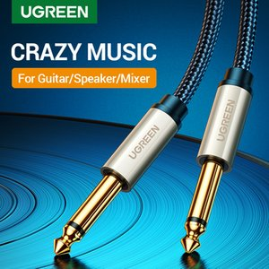 6.5mm Jack Audio Cable Nylon Braided 6.35 Jack Male to Male Aux Cable 1m 2m 3m 5m for Guitar Mixer Amplifier Bass 6.35