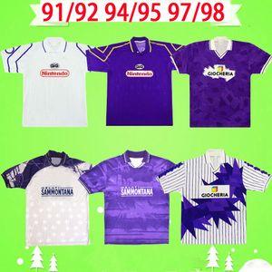 Fiorentina 1991 1992 1994 1995 1996 1997 Футболка в стиле ретро, винтажная футбольная рубашка Florence classic SCHWARZ BATISTUTA BAIANO RUI COSTA HOME AWAY