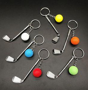 500 stücke Sport Schlüsselanhänger Golf Ball Schläger Keychain Mode Kreative Metall Anhänger Schlüsselanhänger Für Männer Und Frauen Sport Clubs Schmuckgeschenke Förderung Waren Hys81-1