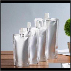 500Pcs Doypack 150Ml 250Ml 350Ml 500Ml Aluminum Foil Stand Up Liquid Bag Pack Beveragesqueezedrink Pouch Kxkfx Water Bottles Ug8Dc