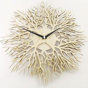 Wall Clocks Tree Of Life Art Clock Sacred Wood Green 3D Modern Arrival Hanging