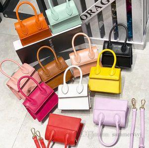 Luxury Girls handbag kids one-shoulder bags Fashion children PU leather square messenger bag women Mini phone lipstick purse 10 color Q0726