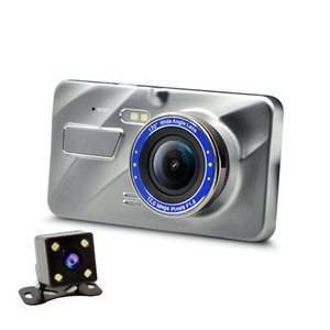Metal 2.5D Car dvr Camera Double Lens Full Hd 1080p Parking Recorder Video Camcorder Auto Electronic Dog Supplies Reversing Image