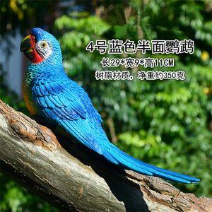 Resina Papagaio Estátua Montada DIY DIY Árvore de Jardim Ao Ar Livre Decoração Animal Escultura para Home Office Garden Decor Ornamento 338 S2