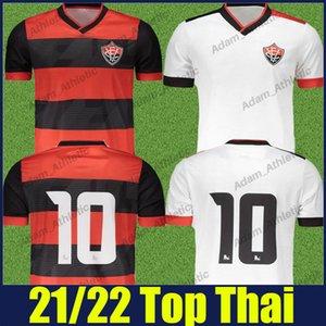 Fans Top Quality 2021 2022 Camisa de Vitoria Jersey Soccer Home Away 20 21 Esporte Clube Vitória T-shirts de football Jonathan Bocao Eduardo da Silva Albuquerque Uniformes
