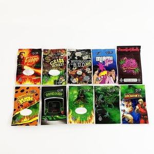 Smell proof packaging bags 3.5g DA 10 Designs stand pouch zipper top 3.5 dry herb flower mylar bag