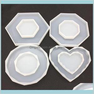 Octagon Heart Rhombus Silicone Molds Diy Silicone Resin Craft Mold Jewellery Making Epoxy Resin Craft Polymer Clay Mud Board Kszaj Xtwwg