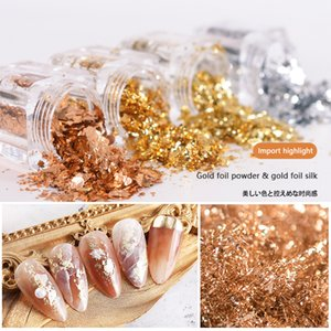 Nails Art Shards Gold Foil Powder Fashion Nail Accessories Stickers Decals Flash Stylish Beauty 88