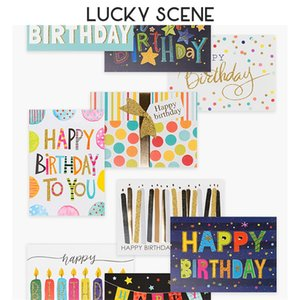 Glitter Greeting Party Banner Gift Message Happy Birthday Cards 4550 Q2