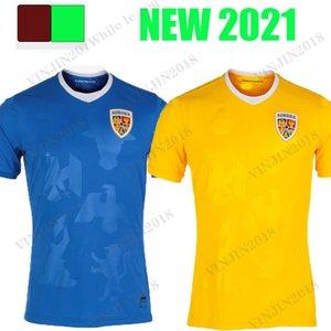 2021 2022 Romania Jersey di calcio domestico Giallo Away Bue 21 22 Alexandru Cicicdau Ianis Hagi Dennis Man Marin Camicie di calcio Maillots Camiseta de futbol Tailandia